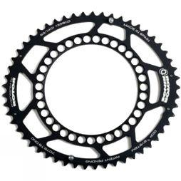 Rotor Q-Ring Road 53 Tooth 130BCD Chainring Black