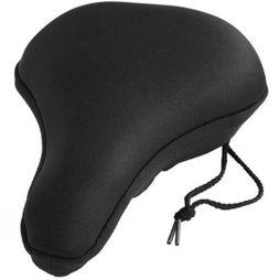 M-Part Universal Fitting Gel Saddle Cover With Drawstring Black