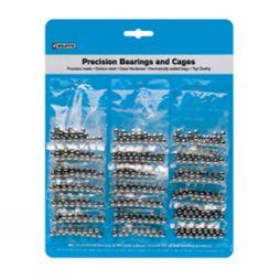 "Weldtite Bearing Pack 1/4"" (20 bags x 24 balls = 1 card) Black"