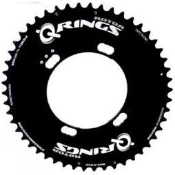 Rotor Q-Ring 52 Tooth 110x4 bolt Shimano Outer Chainring Black