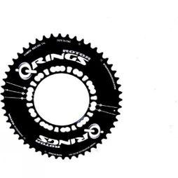 Rotor Q-Ring 52 Tooth 110x5 Bolt Outer Chainring Aero Black