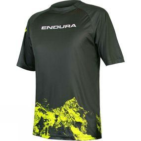 Mens Singletrack Mountain Print SS Top