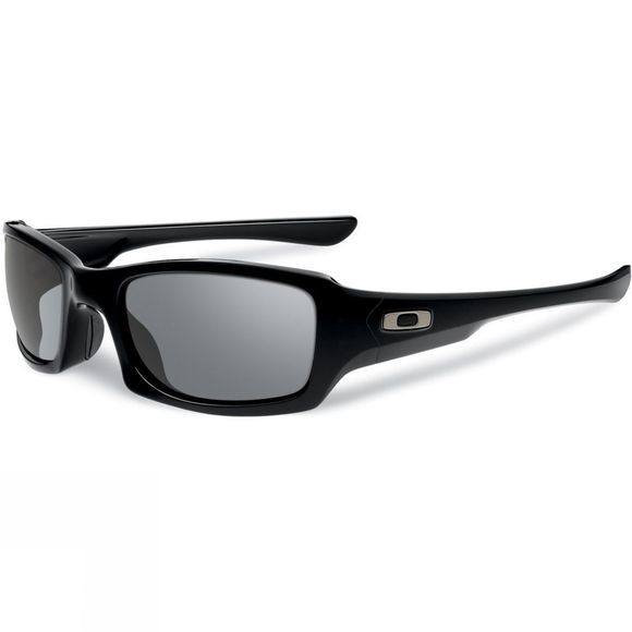 Fives Squared - Polished Black With Grey Lens
