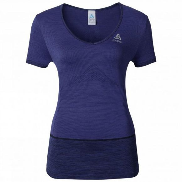 Womens Seamless Kamilero Short Sleeve Crew Neck Shirt