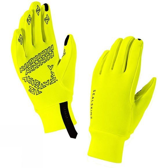 SealSkinz Womens Stretch Fleece Nano Gloves Hi VisYellow
