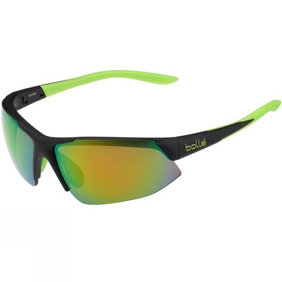 Bolle Breakaway Glasses - Shiny White/Orange With TNS Fire Lenses Black          /Lt Green
