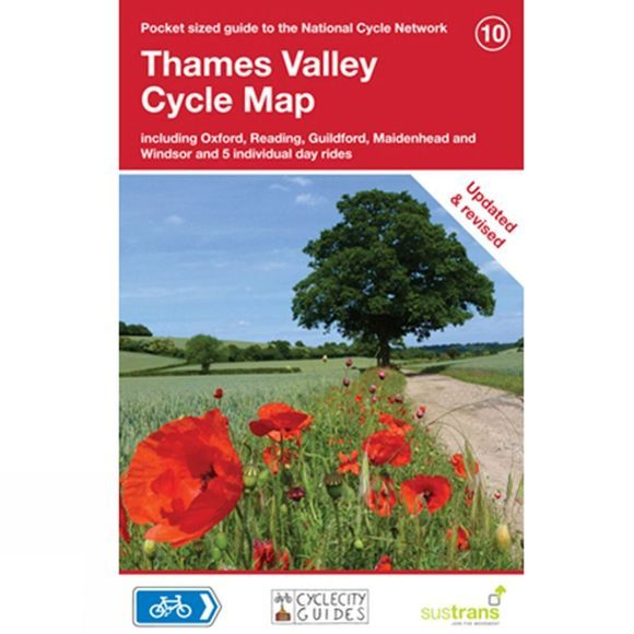 Sustrans Four Point Mapping Thames Valley Cycle Map 1st Edition