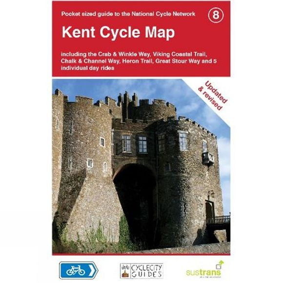 Sustrans Four Point Mapping Kent Cycle Map No Colour