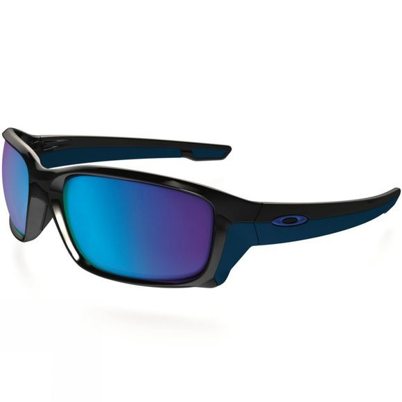 Oakley Straight Link Sunglasses Polished Black/ Sapphire Iridium