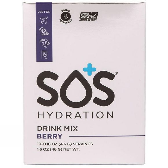 SOS Hydration  SOS Electrolyte Drink - Berry - 10 Sachets Berry