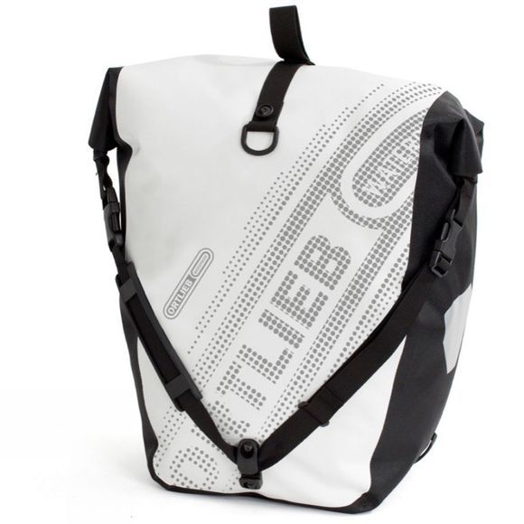 Back Roller Black 'n' White Pannier (Pair)