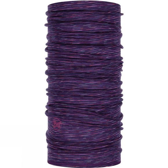 Buff Lightweight Merino Wool Buff Purple Multi Stripes
