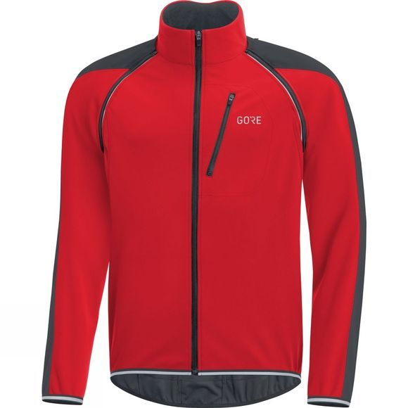 Gore Bikewear Mens C3 Gore Windstopper Phantom Zip-Off Jacket Red/Black