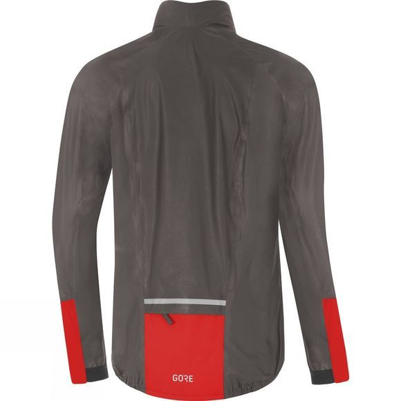 Gore Mens C5 Gore-Tex Shakedry 1985 Viz Jacket  Lava Grey/Red