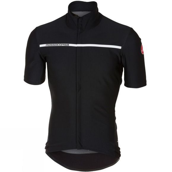 Castelli Mens Gabba 3 Short Sleeve Wind/Rain Jacket Black          /Plain