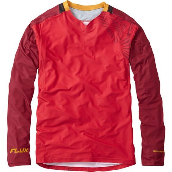 Madison Men's Flux Enduro Long Sleeve Jersey Red