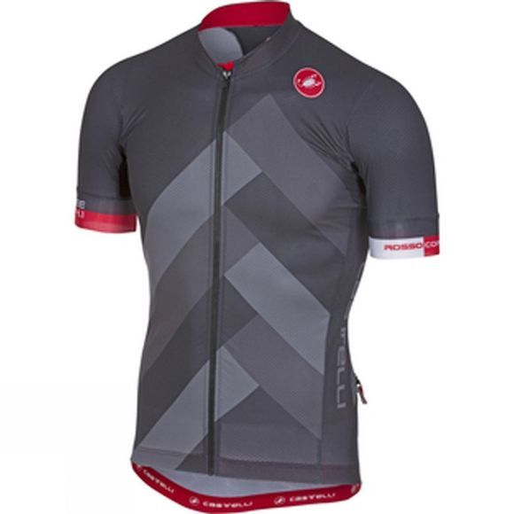 Castelli Mens Free Aero Race 4.1 Jersey Full Zip Anthracite