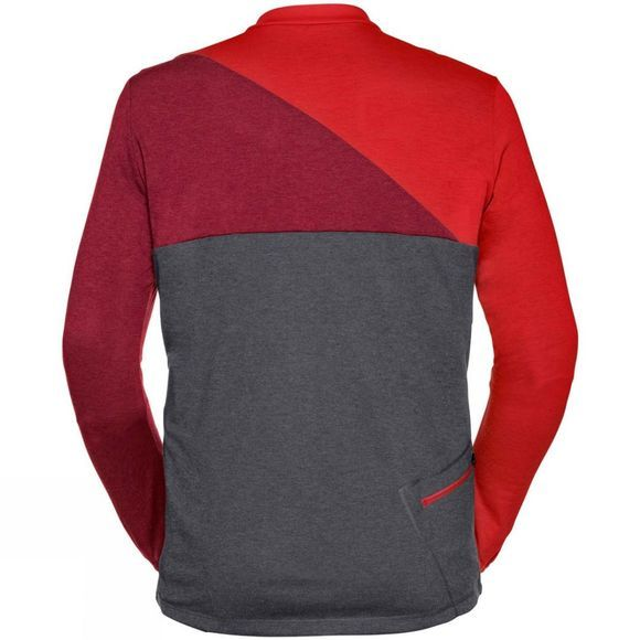 Vaude Mens Tremalzo Long Sleeve Shirt Energetic Red