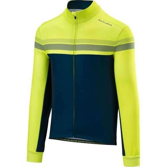 Altura Mens Nightvision 4 Long Sleeve Jersery Hi Viz Yellow/ Blue