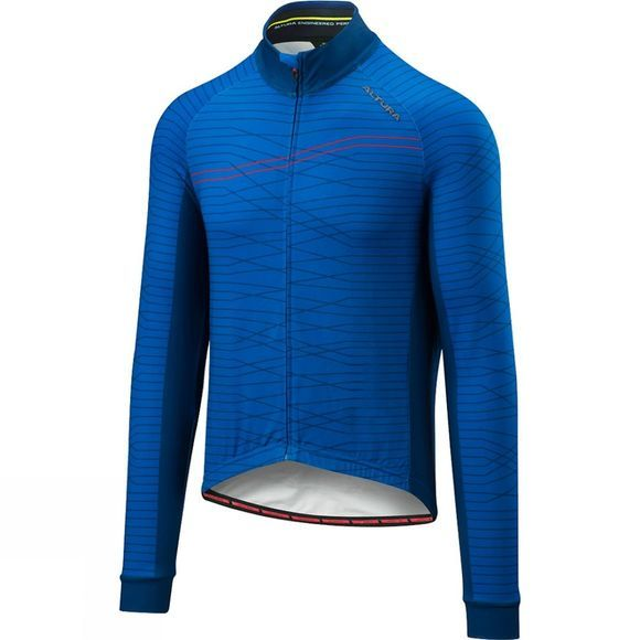 Altura Mens Thermo Lines Long Sleeve Jersey Blue