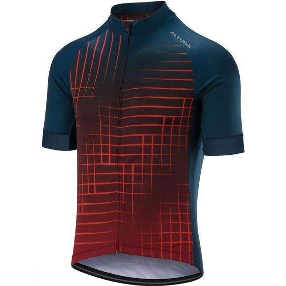 Altura Mens Icon Satalite Short Sleeve Jersey Blue / Orange