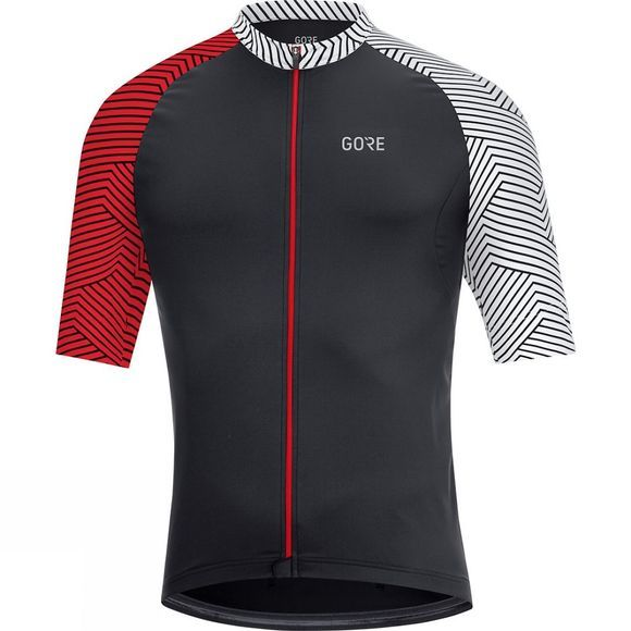 Gore Mens C5 Jersey Black / red