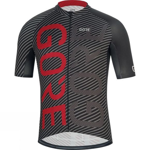 Gore Mens C3 Brand Jersey Black / red