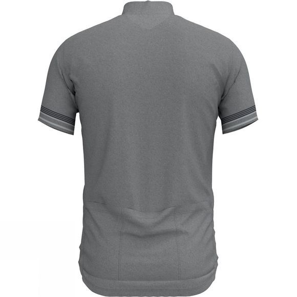Odlo Mens Element Stand-up Collar Short Sleeves 1/2 Zip Top Grey