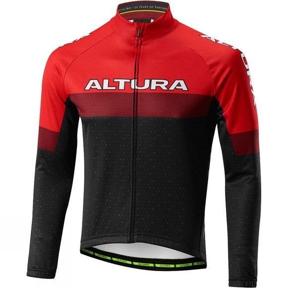 Altura Mens Sportive 97 Long Sleeve Jersey RED BLACK