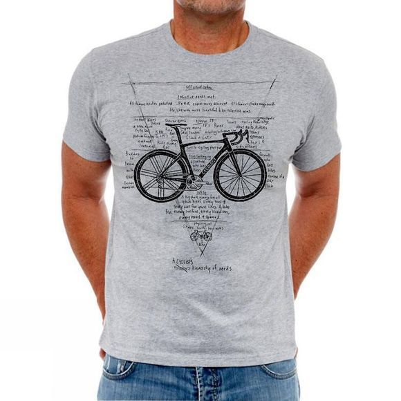 Cycology Hierarachy Mens Tee Grey