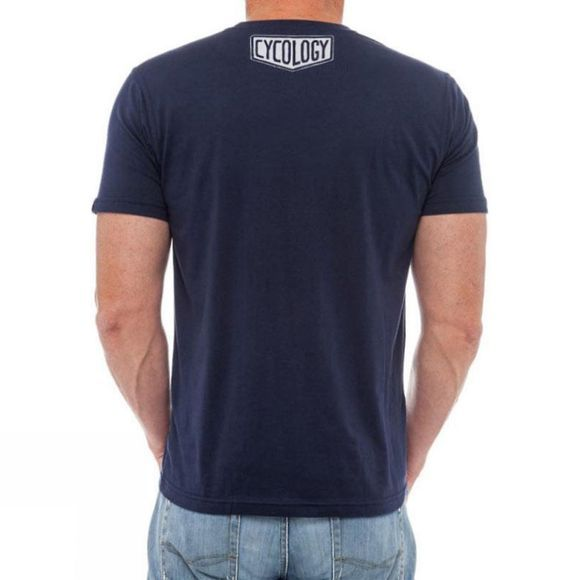 Cycology Meaning of Life Mens Tee Navy