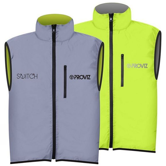 Proviz Men's Switch Gilet Yellow/Silver