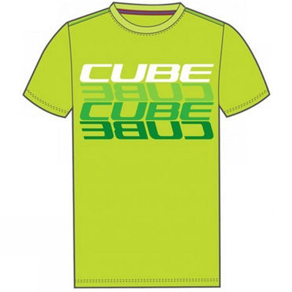 Cube Mirrored Letters T-Shirt Green
