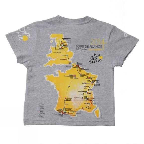 TDF Map Graphic T-Shirt Mid Grey