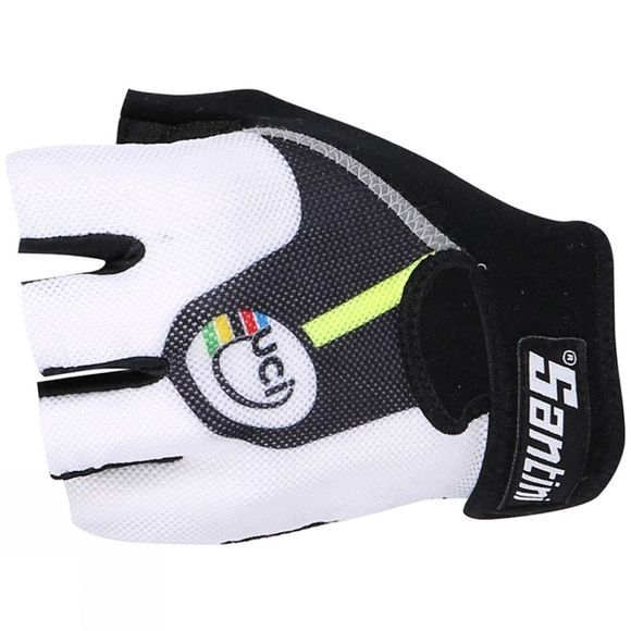 Santini Womens UCI Rainbow Fashion Line Race Mitts Black