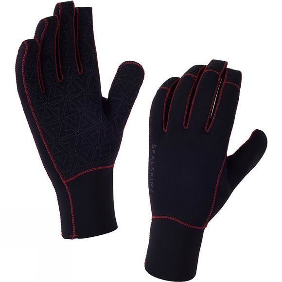 SealSkinz Neoprene Gloves Black/Core Red