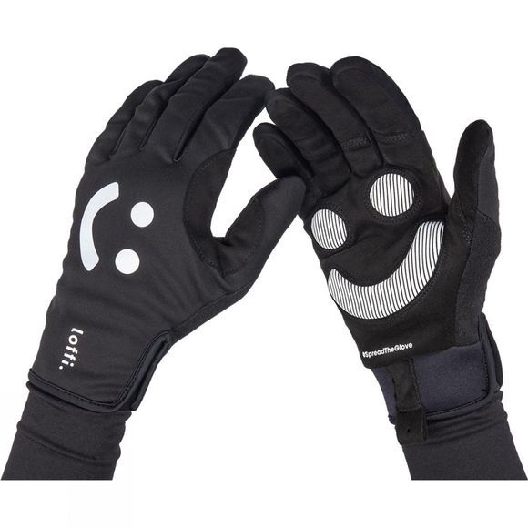 Loffi Smiley Reflective Glove Black