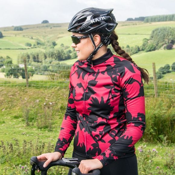 Primal Women's Cabernet Long Sleeve Jersey Red/Black
