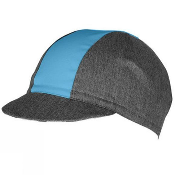 Castelli Geo Cap Anthracite/Shade Blue