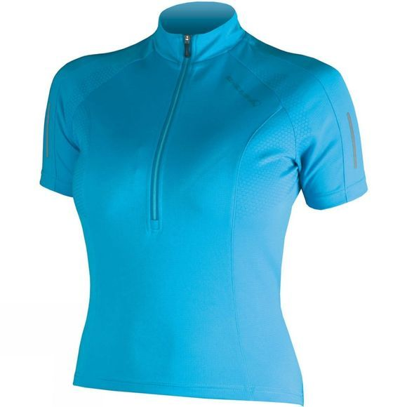 Endura Womens Xtract Short Sleeve Jersey Blue