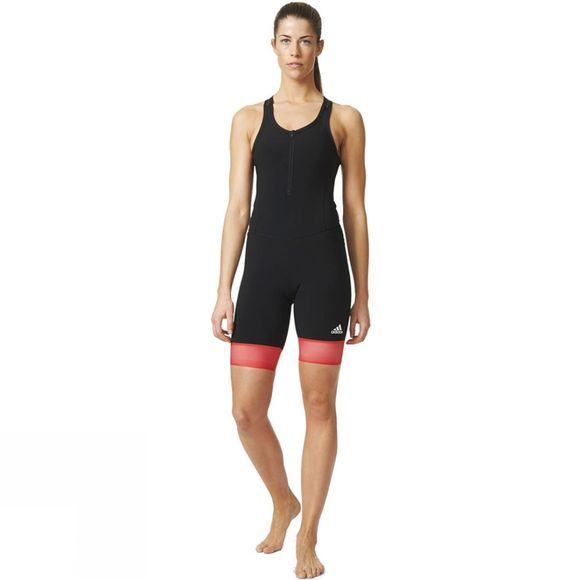 Adidas Adistar Bib Women's Short BLACK/SHOCK RED