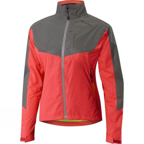 Altura Womens Nightvision Evo 3 Waterproof Jacket Hi Viz Pink/Reflective