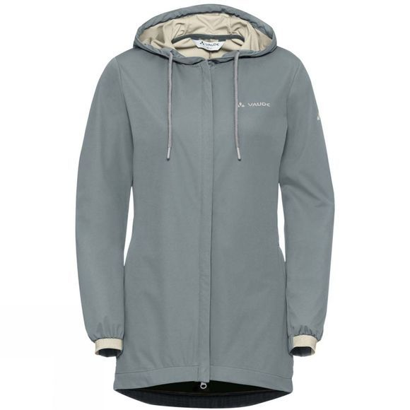Vaude Womens Cyclist Softshell Jacket Pewter Grey