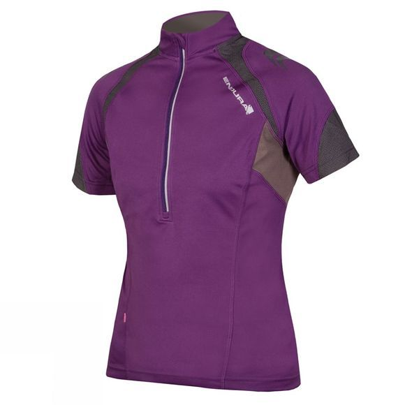 Endura Women's Hummvee II Short Sleeve Jersey Purple
