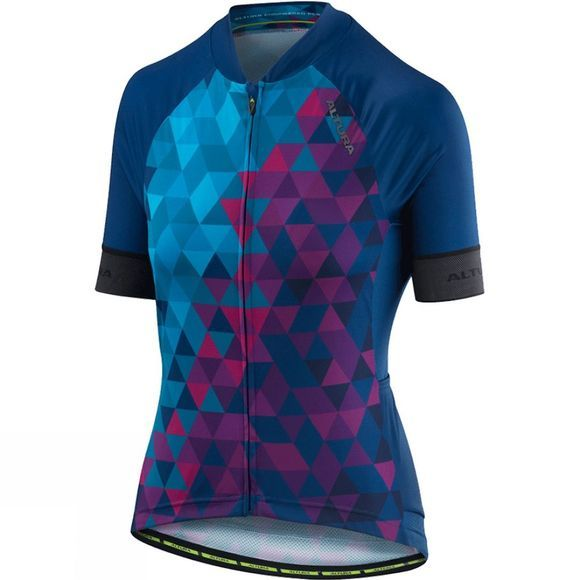 Altura Womens Peloton Short Sleeve Mosaic Jersey  Blue/Purple