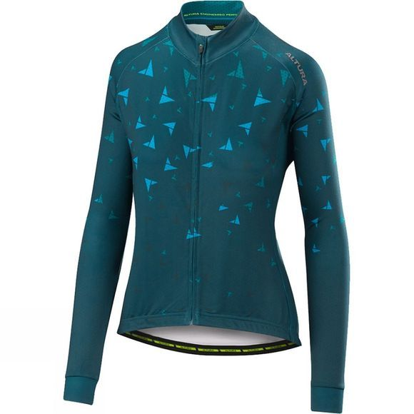 Altura Womens Flock Thermo Longsleeve Jersey Teal