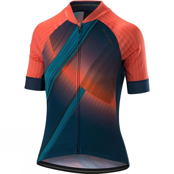 Altura Womens Icon Orbit Short Sleeve Jersey Coral / Teal
