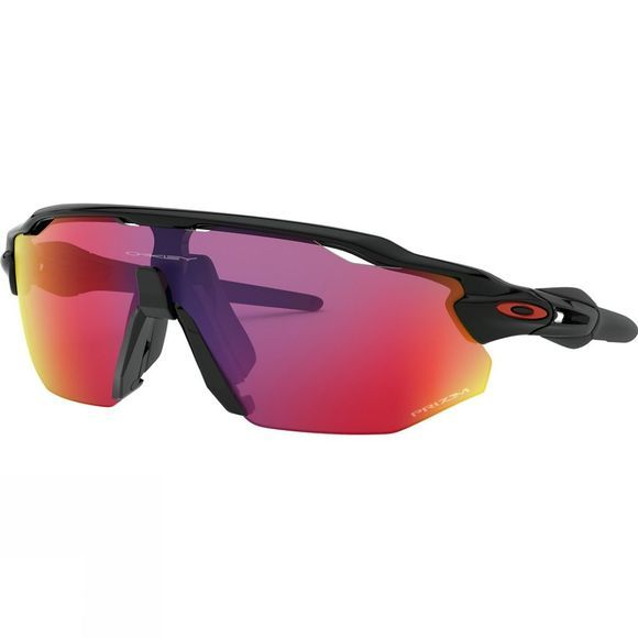 Oakley Radar EV Advancer Prizm Road/Trail Torch Sunglasses Polished Black / Prizm Road