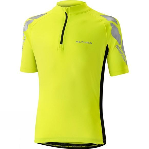 Altura Kids Nightvision Short Sleeve Jersey HI VIZ YELLOW/BLACK