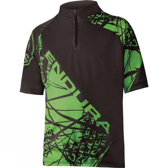 Endura Kids Hummvee Ray Jersey Black          /Green